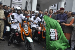 208Hon'ble Chief Minister Shri. Jai Ram Thakur launched Bike Ambulance services in Himachal Pradesh on 2nd April 2018