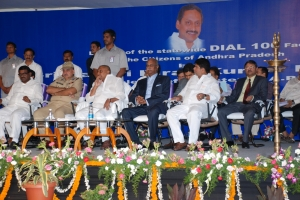 Honorable Chief Minister of Andhra Pradesh Shri. N. Kiran Kumar Reddy launched Dial 100 services on 11th April 2013