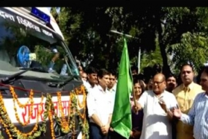 Mobile Dental Vans Inaugurated by Shri Kali Charan Sarafa Hon'ble Health Minister of Rajasthan on 2nd October 2017