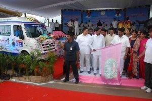 Hon'ble Chief Minister of Telangana State Shri. K. Chandra Shekar Rao garu launched 1962 Mobile Veterinary Clinics on 15th Sep 2017 at Hyderabad.